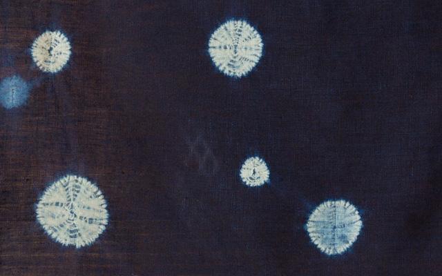 本藍絞り染め丸