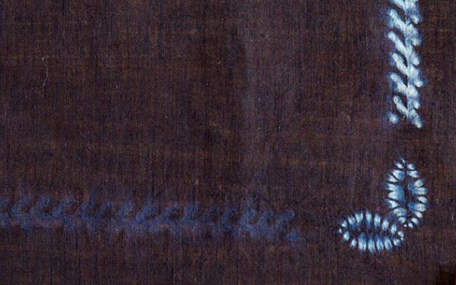 本藍絞り染めバンダナ柄