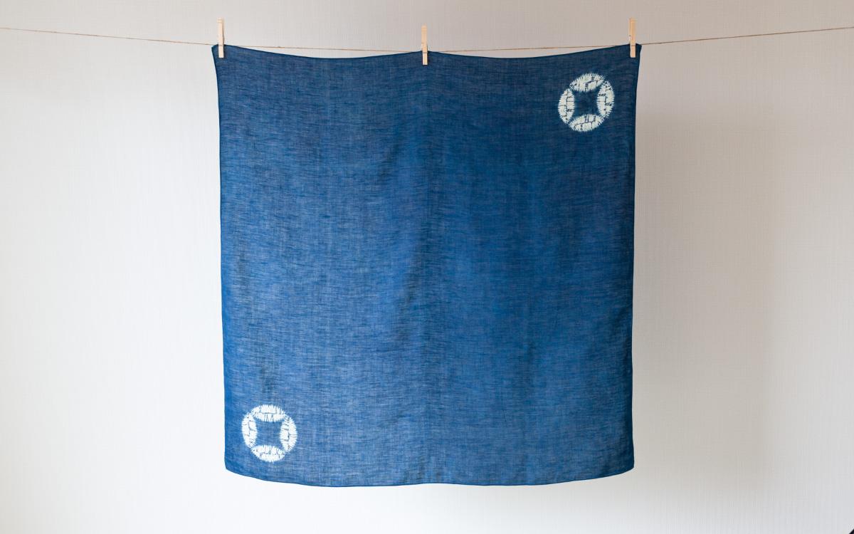 本藍絞り染め六角風呂敷