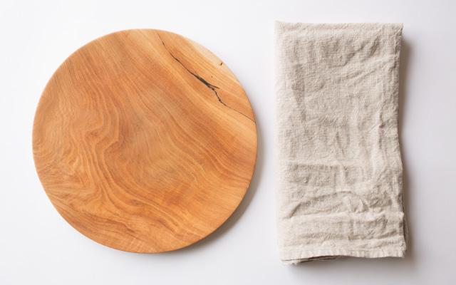 木皿リネンクロス経年変化
